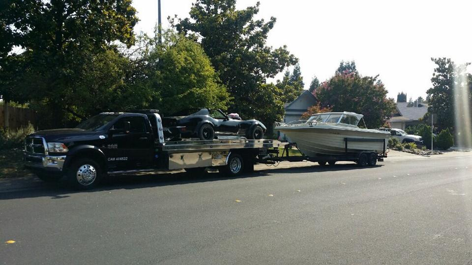 A car and boat combo tow only works if you have the right towing equipment, and you can count on Rocklin Ace Towing to have the right equipment, every time.