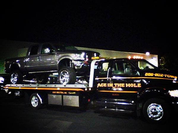 Rocklin Ace Towing is ready to help with your towing needs, day or night. Whenever you run into a problem on the road, we will be ready to help. You can call Rocklin Ace Towing 24/7 if you need a tow, or roadside assistance. When it's late at night and you need a tow truck, call the best towing company in Rocklin. Call Rocklin Ace Towing.