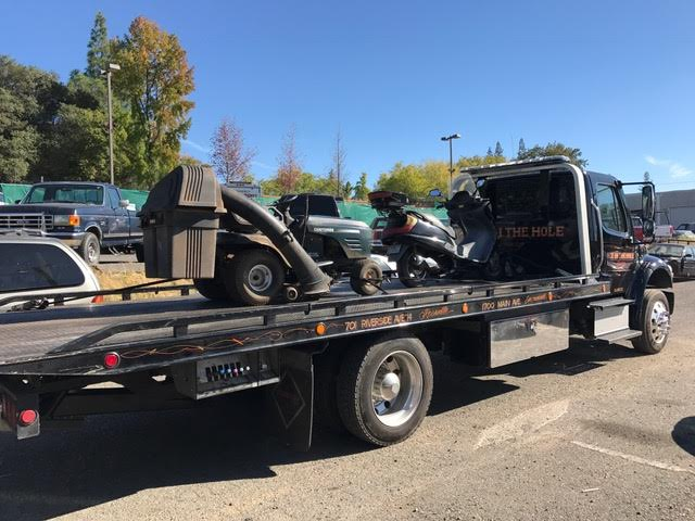 Well, sometimes it's not a car or a truck that needs to be towed. That's not a problem for Rocklin Ace Towing. Our drivers know how to figure out the best way to secure unusual vehicles on our flatbed tow trucks.