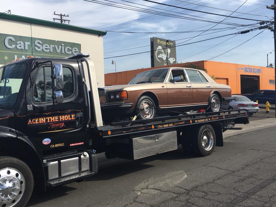 When your Rolls Royce breaks down, you want to be towed by the best towing company in Rocklin. At least that's what the owner of this Rolls Royce said when he called Rocklin Ace Towing to tow his Rolls Royce. But, you don't have to own a Rolls Royce to want the best, and Rocklin Ace Towing works hard to be the best whoever we are towing. Call us anytime and we will show you why we are the best towing service company in Placer County.
