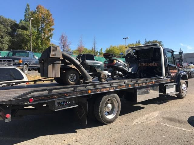 When a vehicle being donated to charity needs to be picked up, Rocklin Ace Towing is always ready to go. As you can see,